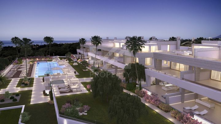 Spectacular double duplex penthouse in an off-plan development of 77 state-of-the-art homes on Marbella's Golden Mile