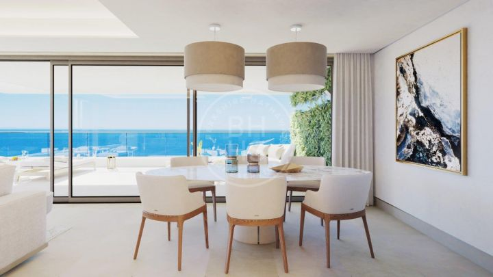 Modern apartment in a new project of luxury homes with panoramic sea views on the western coastline of Málaga