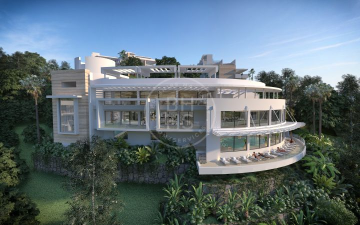 Contemporary off-plan garden apartment with sea views located minutes away to Marbella Centre