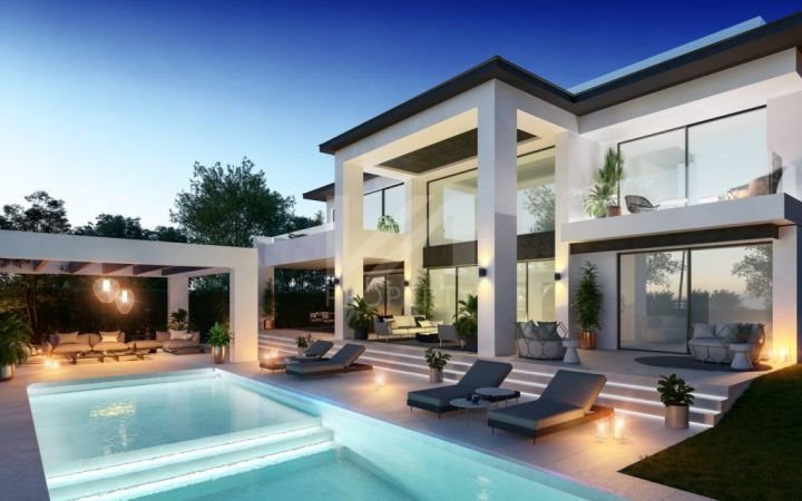 Exclusive off-plan villa in a project of 3 luxury villas located just 50 metres to the beach next to Puerto Banús