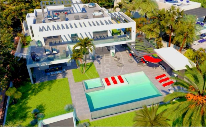 Modern beachside villa under construction situated only 200 metres to the sea
