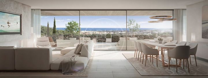 Luxury villa in an elevated position with sea and golf views in one of the most prestigious residential areas in Sotogrande