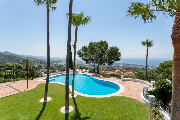 Elegant Andalusian-style villa with Moorish features in Sierra Blanca, one of the most prestigious gated residential areas on Marbella's Golden Mile