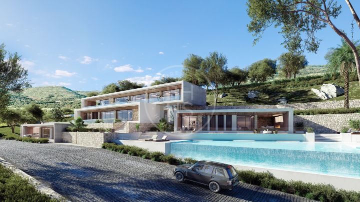 Set of 5 plots to build luxury villas with panoramic sea views in an exclusive complex in La Quinta, Benahavís