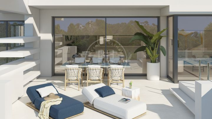 Fantastic brand new off-plan contemporary penthouse apartment in a development of 34 luxury apartments and penthouses, located on Marbella Golden Mile.