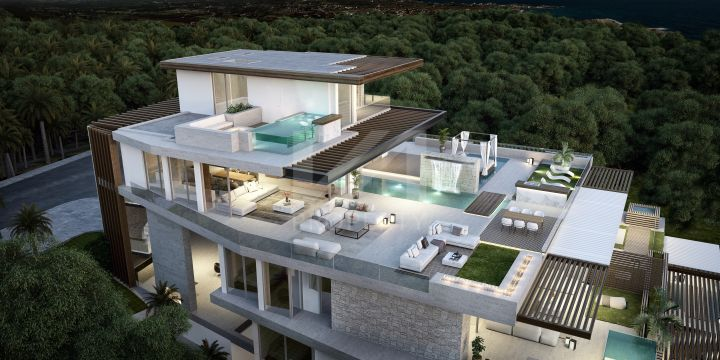 Select second-floor apartment in a new project of nine beachfront residences in Estepona