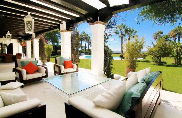 Fully renovated beachfront villa combining classic elegance with all modern conveniences on the New Golden Mile, Estepona.