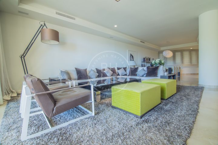 Spectacular fully renovated frontline beach duplex apartment with private pool and garden