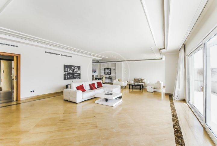 Contemporary ample penthouse beachside in Puerto Banus.