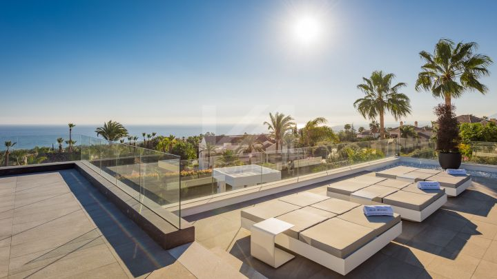 Imposing brand new state-of-the-art luxury villa, in the prestigous urbanisation of Sierra Blanca, Golden Mile Marbella.