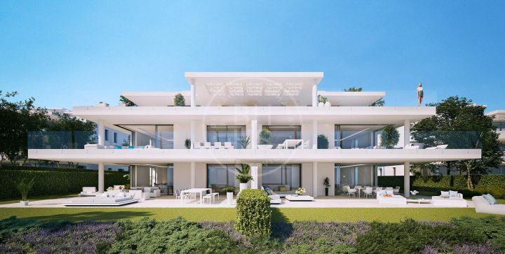 Stunning brand-new beachfront ground-floor apartment in a development of 28 apartments on the New Golden Mile, Estepona