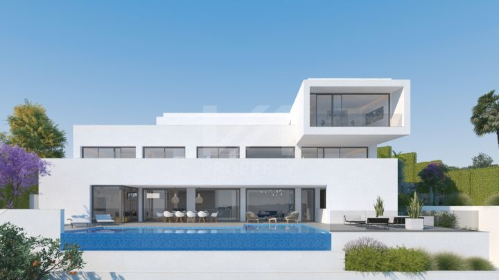 Brand-new villa with panoramic sea views close to the Villa Padierna hotel