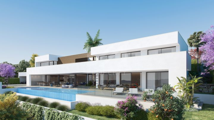 Impressive Villa with panoramic sea and golf views in Los Flamingos