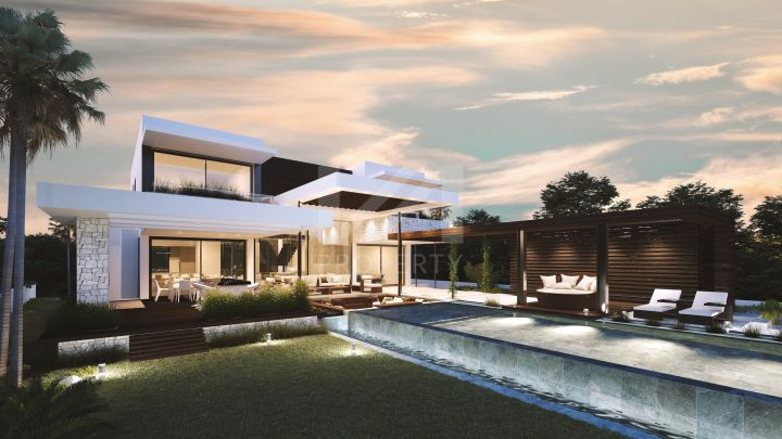 Brand new contemporary villa under construction within a private development of 9 villas in El Paraíso.