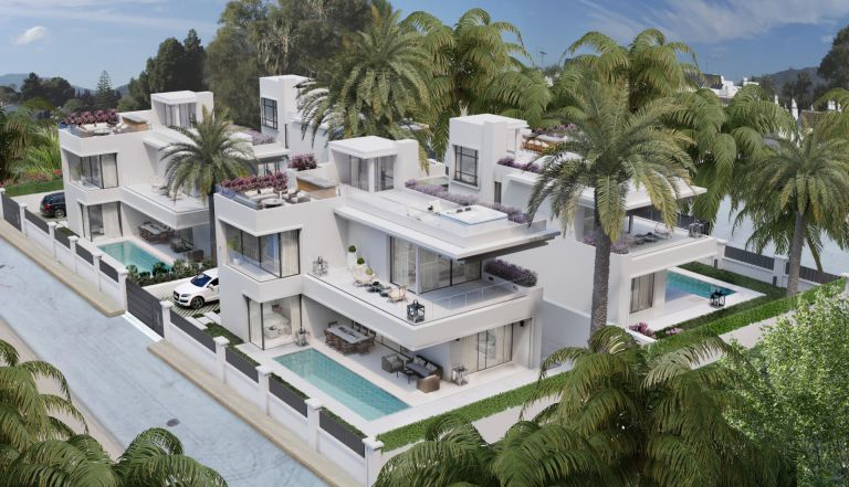 Modern beachside villas