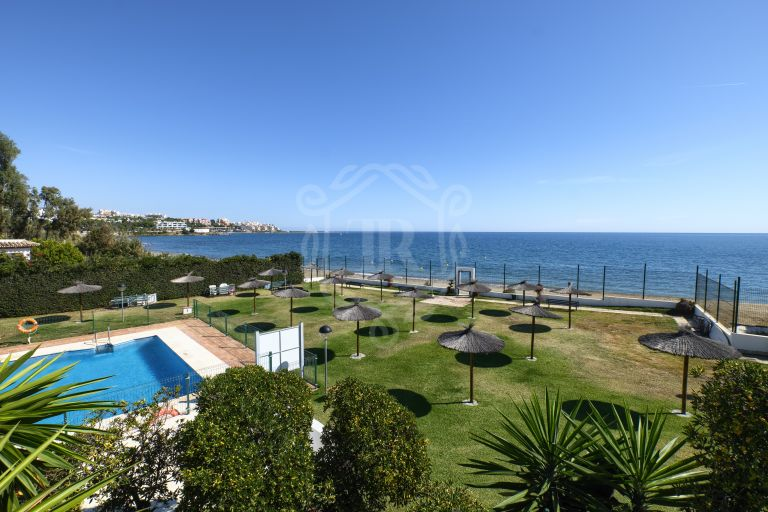 Renovated frontline beach duplex penthouse with stunning views in Estepona
