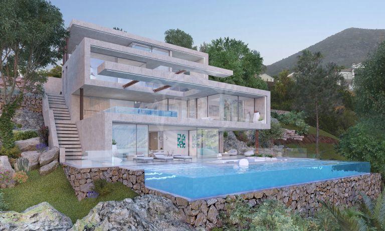 Villa con panorámicas vistas al mar en Istan II, Sierra Blanca