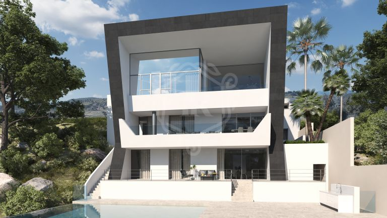 Luxury contemporary style villa project in Los Arqueros Golf, Benahavis