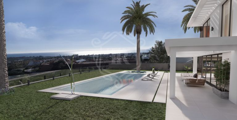 Brand new contemporary villa with sea views in Los Flamingos