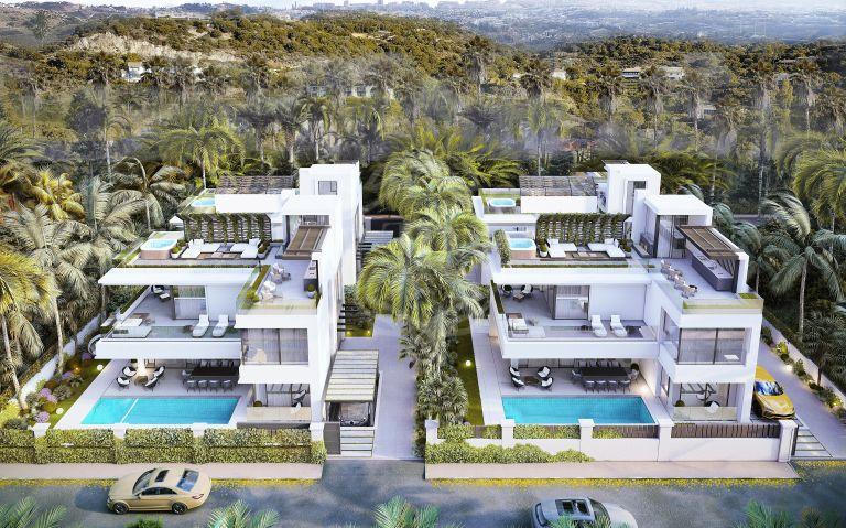 Villas a estrenar a poca distancia de la playa, Marbella Golden Mile