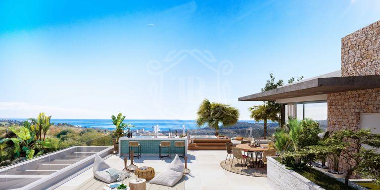 Contemporary luxury villa with sea views
