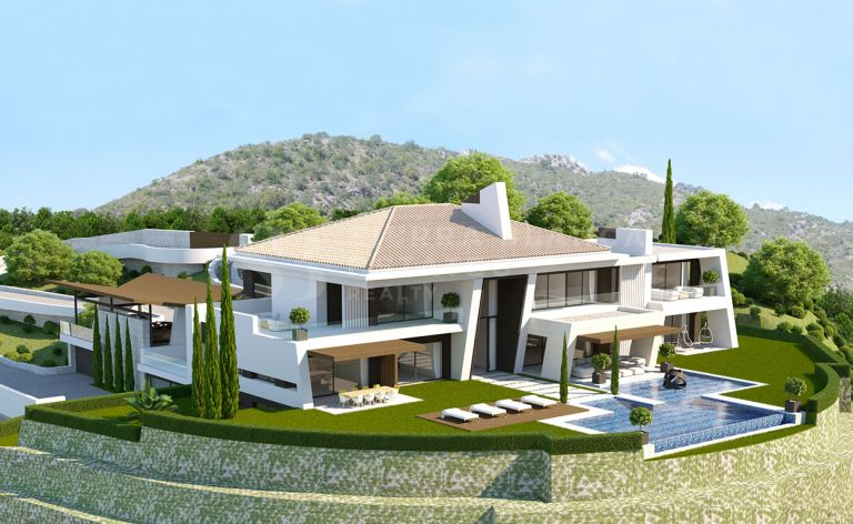 Terrain avec projet de villa à La Zagaleta