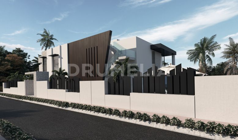 Estepona, New Modern Villa Project under Construction, El Campanario, Estepona