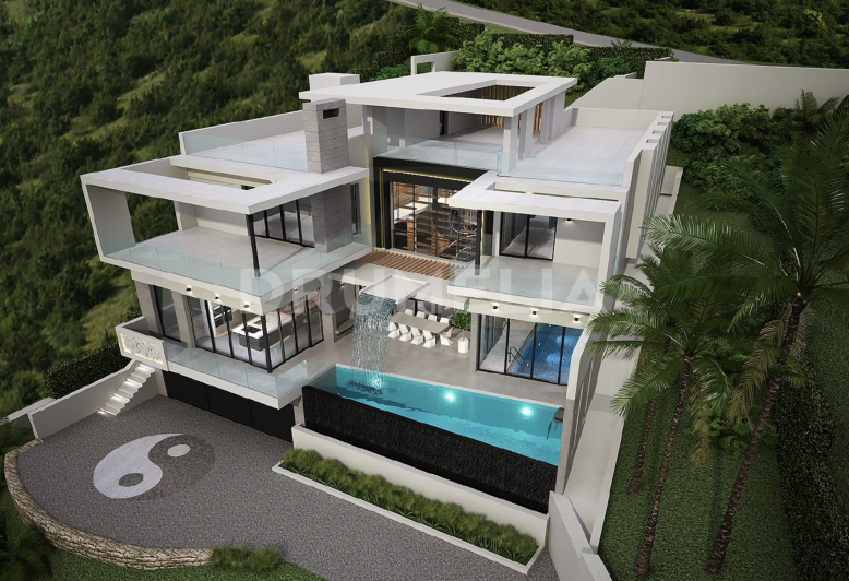 Benahavis, Superb Plot with Structure and Project of Contemporary Villa in Monte Mayor