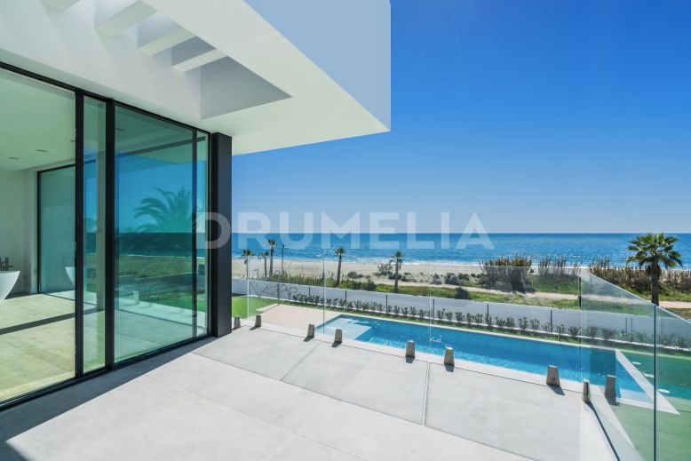 Estepona, Unique Brand-New Frontline Beach Modern Luxury Villa, New Golden Mile, Estepona
