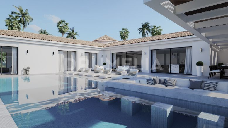Nueva Andalucia, New Extremely Stylish, Chic Modern Mediterranean Villa in Los Naranjos Golf