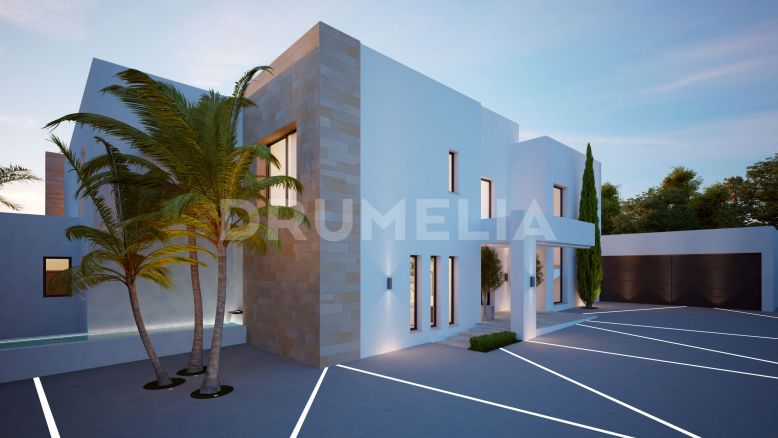 Marbella Golden Mile, Superb Plot with Sea Views, Project and License to Build, Cascada de Camojan