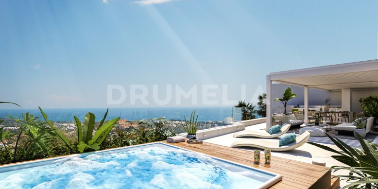 Benahavis, Sophisticated Modern Duplex Penthouse with Sea Views, La Quinta, Benahavis