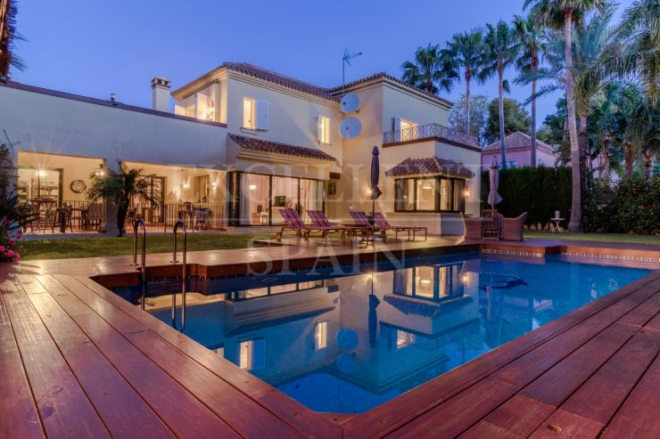 Puerto Banus, Marbella, beachside villa for sale in very quiet area and lots of privacy
