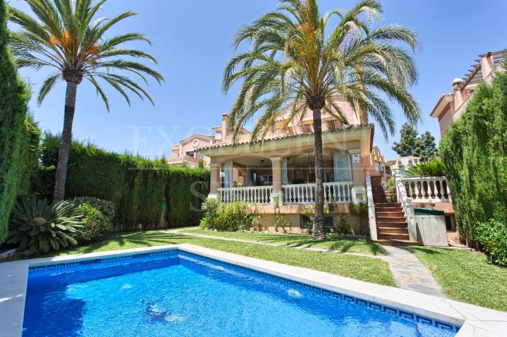 Marbella center, Costa del Sol, spacious villa at walking distance to all amenities