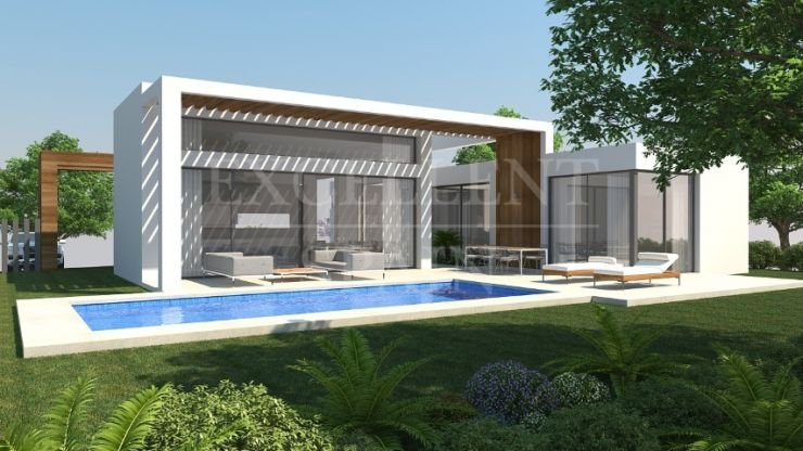 Contemporary, modern villas under construction in Estepona