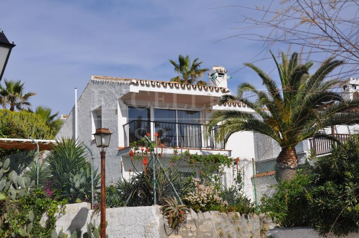 Arena beach, Estepona, frontline beach villa for sale with great sea views