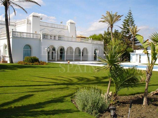 Casasola, Estepona, frontline beach Moorish style villa for sale