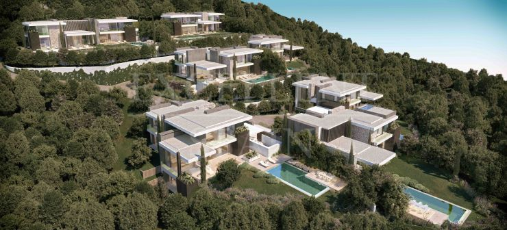 The Hills, La Quinta, new construction of contemporary villas with great sea views