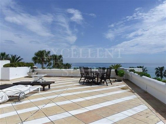 Andalucia Beach, Estepona, first line beach penthouse for sale