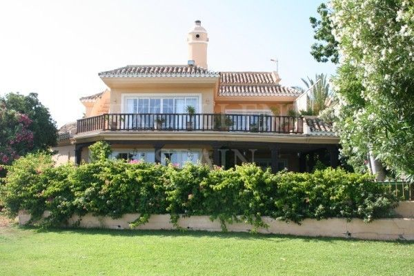 Guadalmina Baja, Marbella, first line beach villa for sale