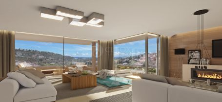 Contemporary apartments and penthouses for sale in Benahavis with stunning panoramic views