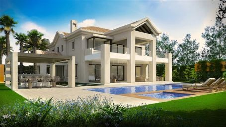 Luxury beachside villa for sale in Marbella Golden Mile