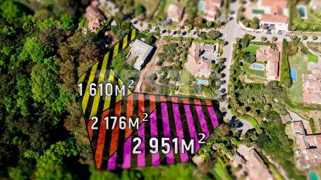 3 Plots for Sale bordering the green zone in Sotogrande Alto