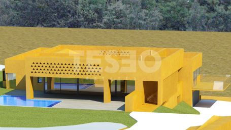 Proyecto de estilo contemporáneo en construción en zona F