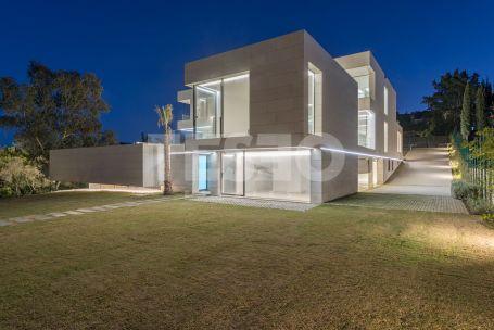 Fabulous NEW 6 bedroom villa next to Valderrama Golf Course facing a green protected zone.