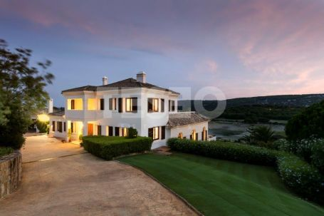 A stunning villa with majestic views over Almenara golf course to the sea and the mountains.