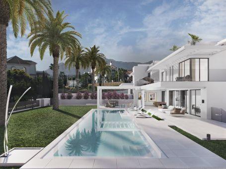 Moderna villa con vistas al mar en los Flamingos-Benahavis