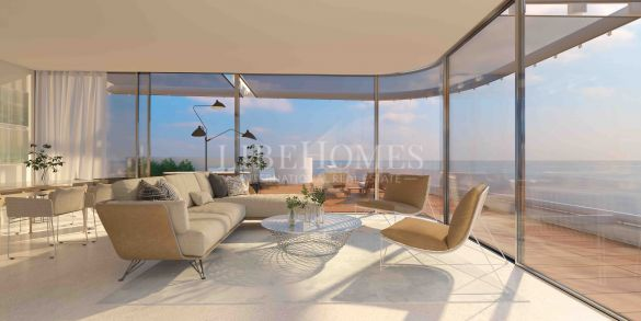 Luxury beachfront penthouses, new development, Estepona