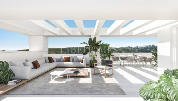 Newly built penthouses inside a golf complex in Casares