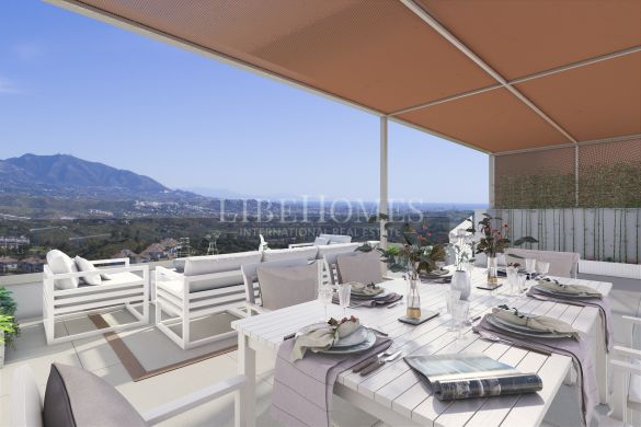 Newly built penthouses with panoramic views, Mijas Costa